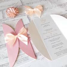 Handmade Wedding Invitations Ebay Uk Sweet Peachy Pink Invitation Cards