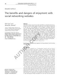 si e social syst e u the benefits and dangers of enjoyment pdf available