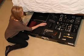 Under Bed Gun Storage Security Options — Jason Storage Bed