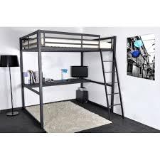 lit mezzanine noir avec bureau bureau sous lit mezzanine wordmark