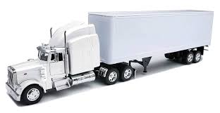 100 Toy Truck And Trailer Amazoncom Peterbilt 379 With Dry Van AllWhite New