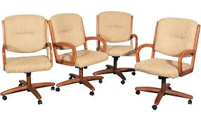Chromcraft Dining Room Chairs by Chromcraft Swivel Tilt And Rolling Game Chairs Chairish