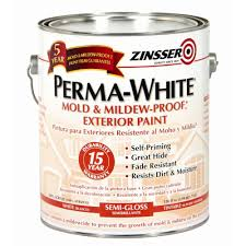 Glidden Porch And Floor Paint Sds by Zinsser 1 Gal Perma White Mold And Mildew Proof White Semi Gloss