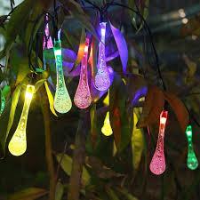 cheap solar outdoor string lights innoo tech 20 led icicle globe