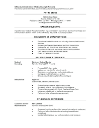 Medical Receptionist Resume Template Office Administration Sample Prepared Centennial Spa
