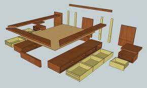 wood woodworking plans a platform bed pdf plans