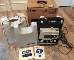 vintage elmo fp a 8mm projector boxed working maybe