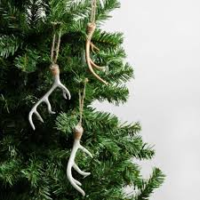 Types Of Christmas Tree Decorations by Antler Hanging Decorations Set Of 5 Christmas Tree Decorations