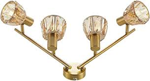 lindby deckenle kosta modern in gold messing aus