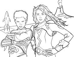 Sharkboy And Lavagirl Coloring Page By PJMintz