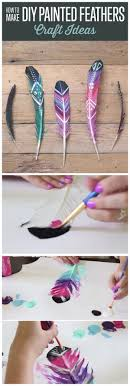 DIY Painted Feathers Another Fun And Easy To Make Weekend