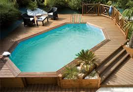 piscine en bois semi enterree on decoration d interieur moderne