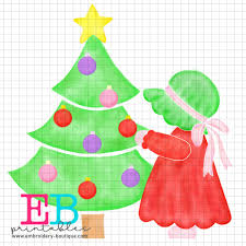 Bonnet Christmas Girl Printable Design PNG