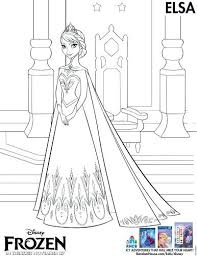 Frozen Fever Printable Coloring Pages Halloween Free Valentine