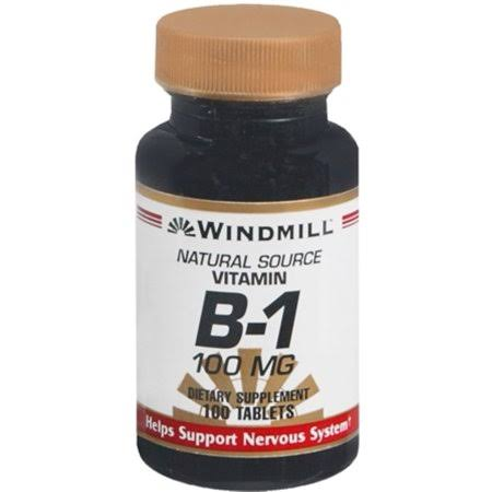 Windmill Vitamin B 1 100 Mg Tablets - 100 Tablets