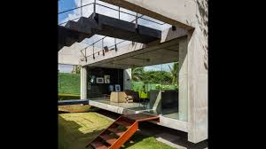 100 Concrete House Designs Modern With Two Separate Elevated Buildings