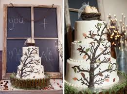 Growing Tree Rustic Wedding Cake