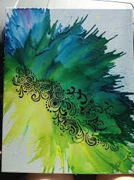 Crayon Art With Paint Marker Designs On Top Crayonart Dormart Crafts