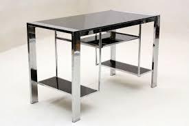 Black Glass Corner Computer Desk by Glass And Chrome Desks For Home Office Desk Corner Computer Desk