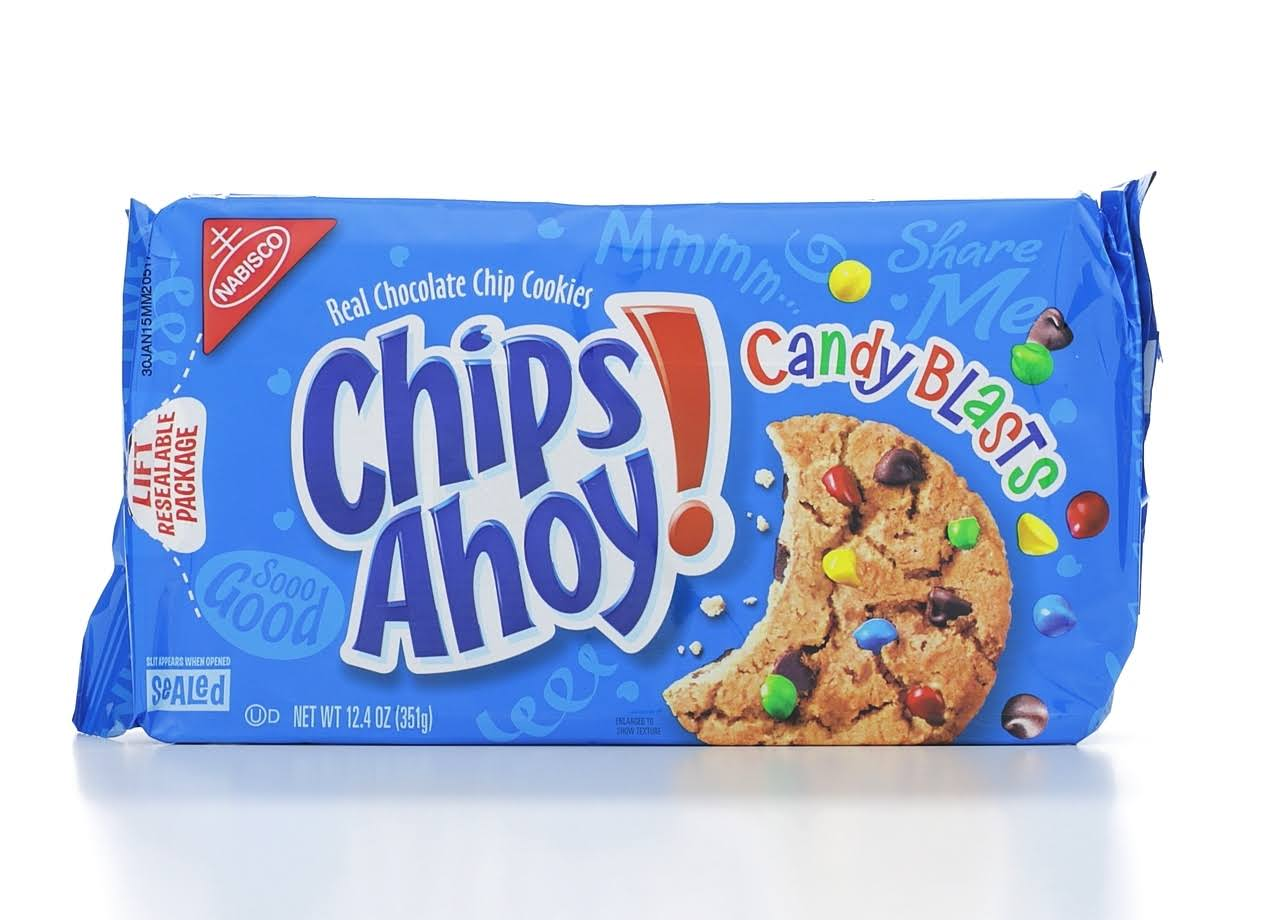 Nabisco Chips Ahoy! Candy Blasts Real Chocolate Chip Cookies - 12.4oz