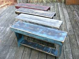 Primitive Furniture Plan Weathered Farmhouse Bench Via Plans Free