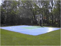 Backyards: Beautiful Basketball Court Backyard Cost. Backyard ... Outdoor Courts For Sport Backyard Basketball Court Gym Floors 6 Reasons To Install A Synlawn Design Enchanting Flooring Backyards Winsome Surfaces And Paint 50 Quecasita Download Cost Garden Splendid A 123 Installation Large Patio Turned System Photo Album Fascating Paver Yard Decor Ideas Building The At The American Center Youtube With Images On And Commercial Facilities