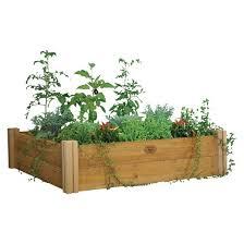 modular raised garden bed two level brown gronomics target