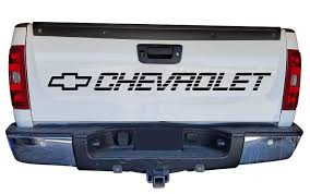 100 Chevy Decals For Trucks Amazoncom Matte Gold Chevrolet Decal For Tailgate Or