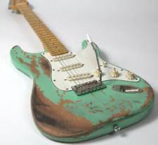 Handmade Heavy Relic Strat Electric Guitar Alder Body Aged Hardware Sea Green