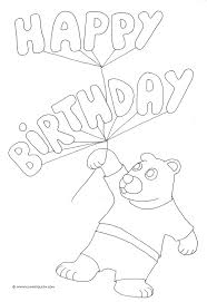 Birthday clown coloring pages happy birthday coloring pages balloons teddy bear