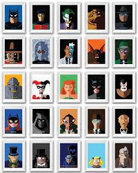 Superhero Bedroom Decor Nz by Batman The Animated Series Batman Poster Print Set Of 6