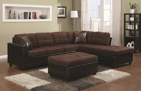 Microfiber Sofas And Sectionals by Coaster Mallory Reversible Sectional With Casual And Contemporary