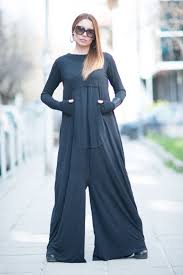 maxi dress harem jumpsuit black women zipper jumpsuit cotton