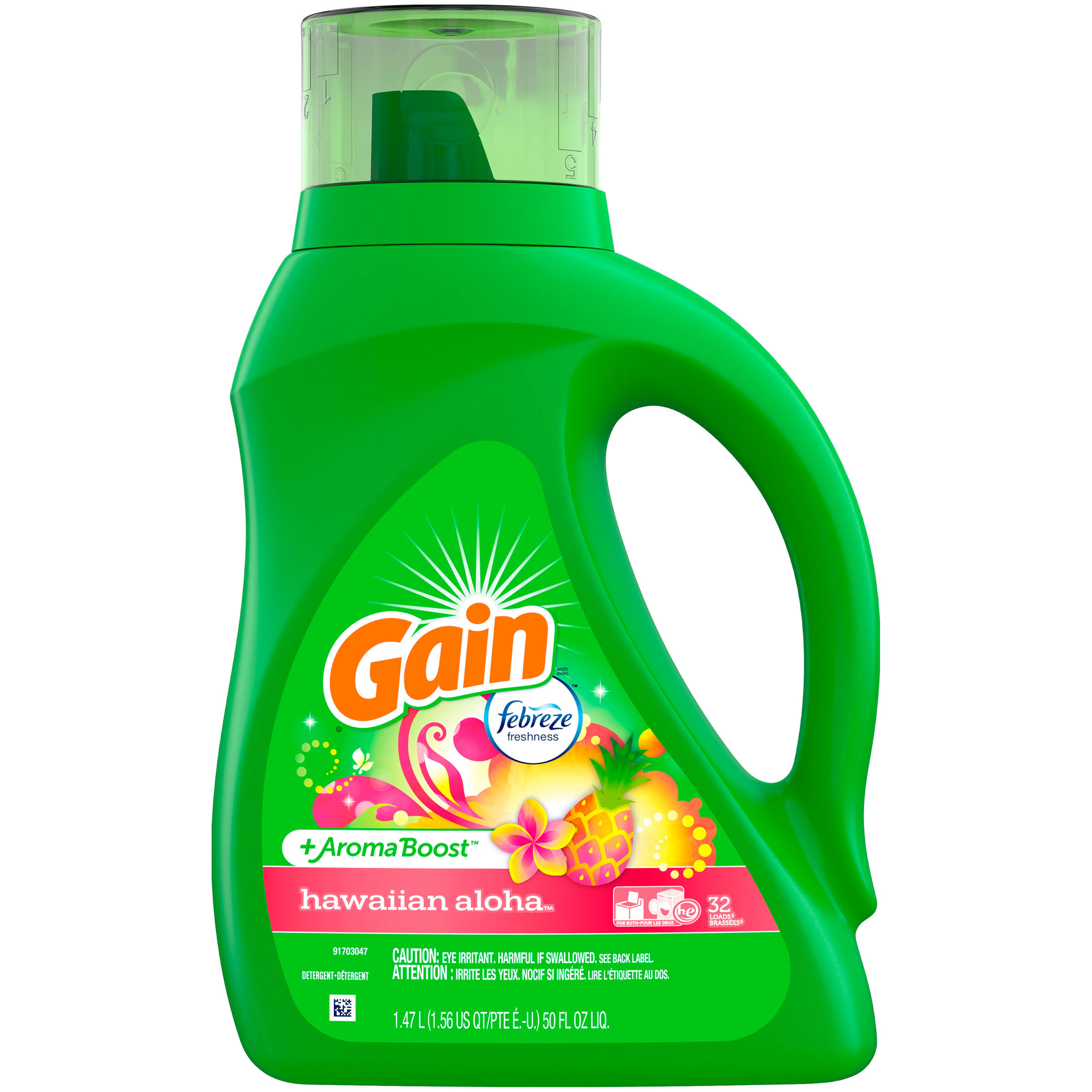 Gain Liquid Laundry Detergent - Hawaiian Aloha, 50oz