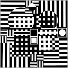 Noir Et Blanc 1zèbre De Vasarely La Classe De Touyéyé