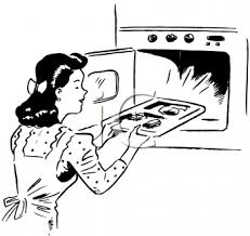 Baking clipart black and white 12