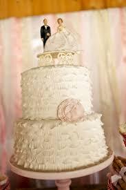 Vintage Wedding Cake Rustic Pink