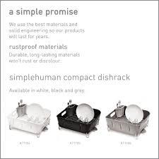 Simplehuman Sink Caddy Canada by Simplehuman Plastic Compact Dishrack Black Amazon Co Uk