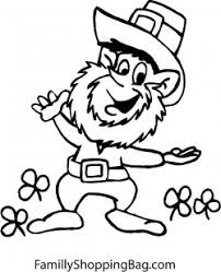 Leprechaun Driving Car Coloring Pages
