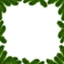 Christmas Tree Borders Fir Frame With Place For Text Isolated On White Background