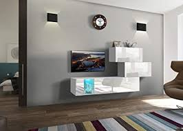home direct gemini n84 weiß modernes wohnzimmer wohnwand