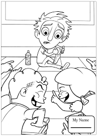 Coloring Pages For Kids Cartoons Food Falling From The Sky Cloudy With A Chance Of Meatballs