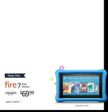 Today ly $30 off Fire 7 Kids Edition tablet Limited time offer