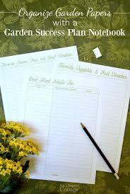 Organizing Garden Paperwork Free Garden Success Plan Notebook