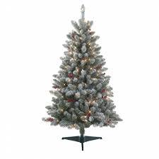 Jaclyn Smith 45 Pre Lit Redwood Pine Flocked Spruce Christmas Tree