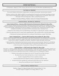 Technical Writing Resume Examples Simple Depiction Therefore Template Tech Epic Summary
