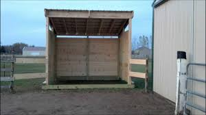 12x24 Portable Shed Plans by Building Lean Barn Or Shelter On Skids Youtube