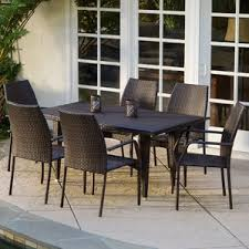 7 Piece Patio Dining Set by Modern Wicker Outdoor Dining Sets Allmodern