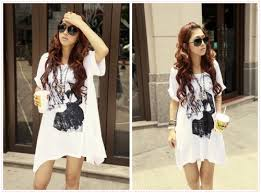 Summer Korea Street Fashion With Loose Shirt And Unique Print