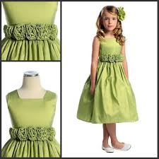 olive drab flower dress jewel collar a line formal